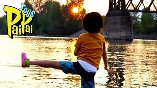 Better Than Toys: Kid Throwing Rocks in The River FUN