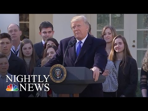 President Donald Trump Quiet As Dow Plunges | NBC Nightly News