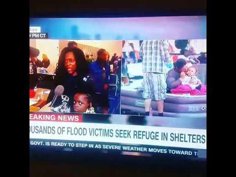 Lady pops off in Houston on CNN