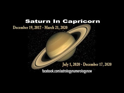 SATURN In CAPRICORN~
