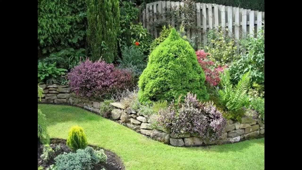 Garden Ideas rock garden border ideas - YouTube on Backyard Border Ideas id=40044