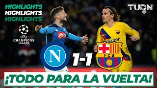 Gambar cover Resumen y Goles | Nápoli 1 - 1 Barcelona | UEFA Champions League - Octavos de Final (Vuelta) | TUDN