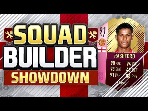 FIFA 18 SQUAD BUILDER SHOWDOWN - 91 FUTTIES RASHFORD vs ANDROS