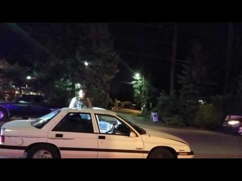 Clackamas county sheriff deputies stop a man
