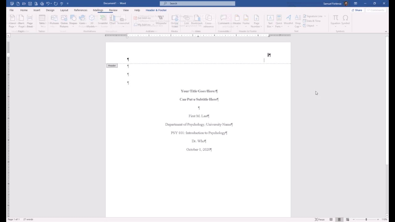APA Style 29th Edition: Student Paper Formatting