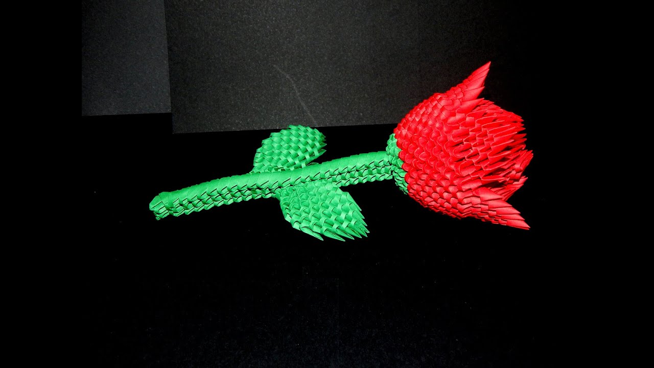 How to make 3d origami Rose part1 - YouTube - photo#4