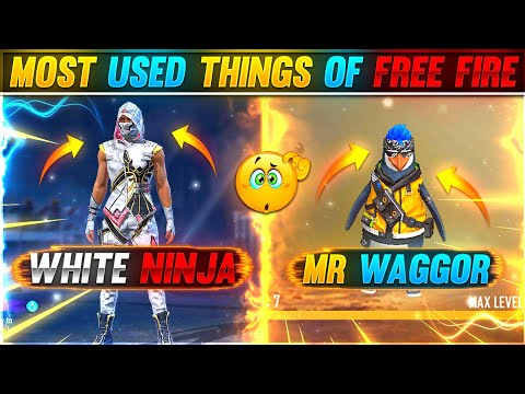 MOST USED THINGS OF FREE FIRE😱🔥   YOU DON'T KNOW ABOUT 😱   RAMPAGE NEW DAWN 🔥