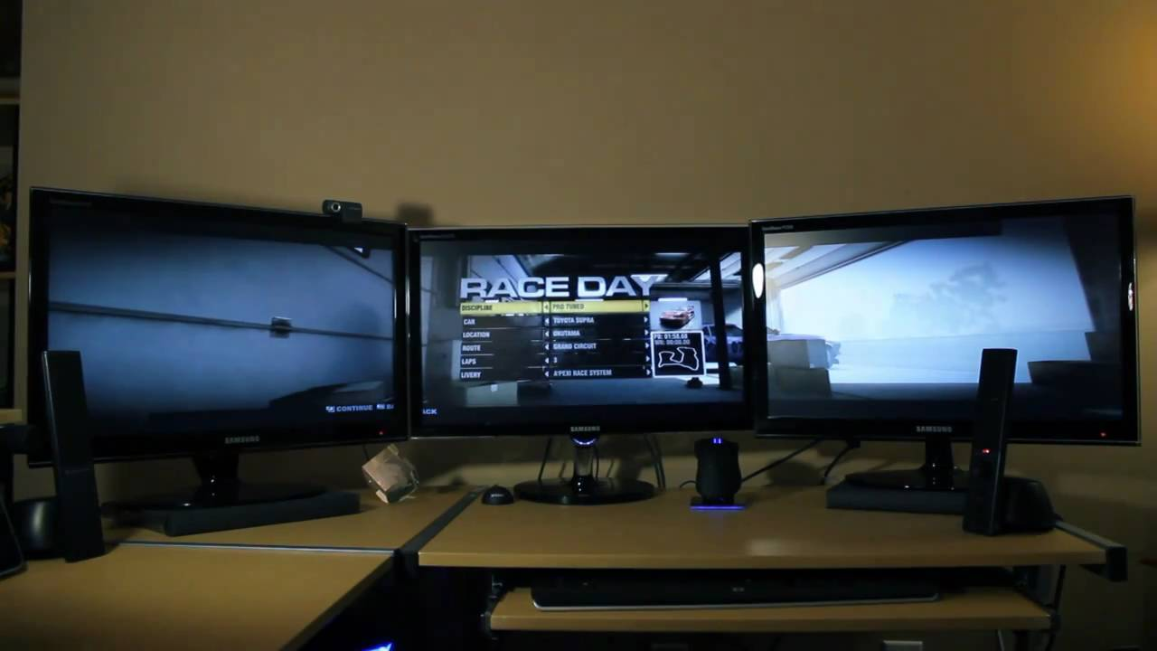 how to set up eyefinity 3 monitor setup youtube. Black Bedroom Furniture Sets. Home Design Ideas