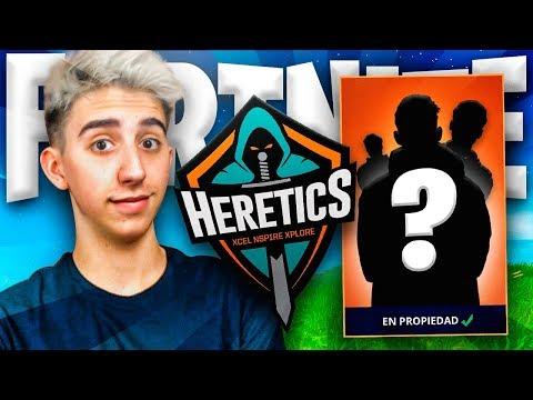 Los nuevos fichajes de Team Heretics de Fortnite...