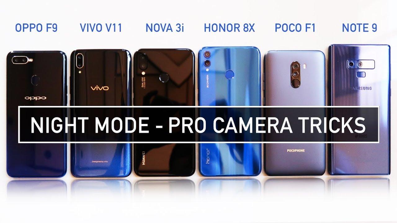 Oppo F9 / Vivo V11 / Nova 3i / Honor 8X / Poco F1 / Note 9 NIGHT MODE PRO  CAMERA TRICKS | Zeibiz