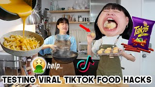 I Tested Viral TikTok Food Hacks (Qjin cooking.. this was so CHAOTIC)  Q2HAN