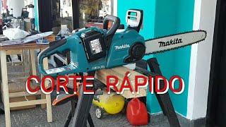 Increible Motosierra Eléctrica Twin 18volt Makita DUC355. 350mm Chainsaw. [ TÉCNICA X ]
