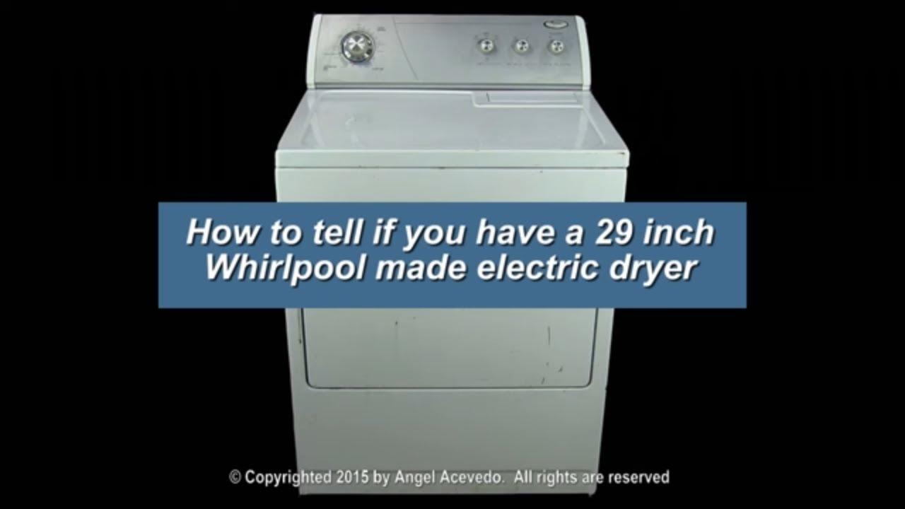 Whirlpool 29 inch dryer