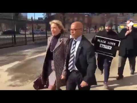Protesters block Betsy DeVos from entering DC school