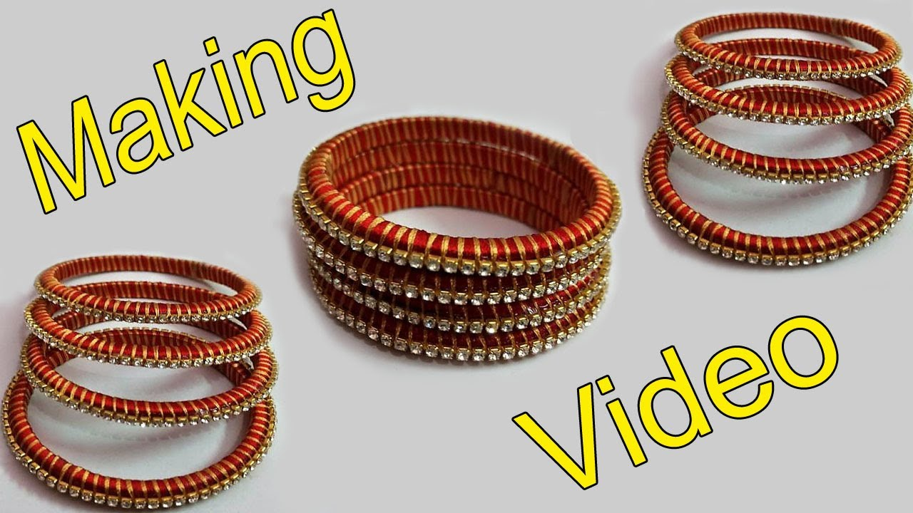 How To Make Designer Silk Thread Bangles At Home Today Fashion Youtube