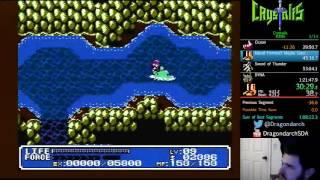 (NES) Crystalis - 100% No Wild Warp in 1:06:55