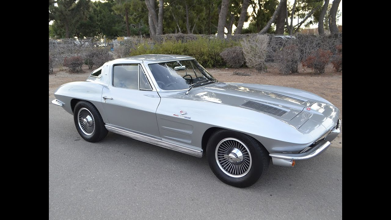 SOLD 1963 Corvette Sebring Silver 327360hp Fuel Injected