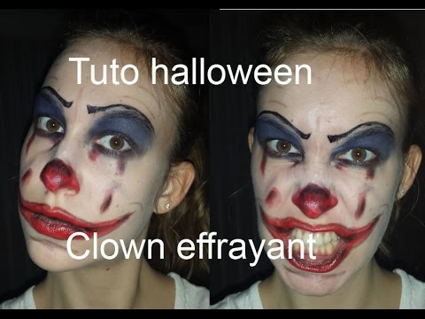 Maquillage halloween n 2 clown effrayant facile r aliser youtube - Maquillage de clown facile ...