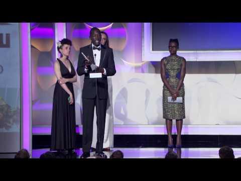 Lupita Nyong'o presents to Call Me Kuchu at the #glaadawards