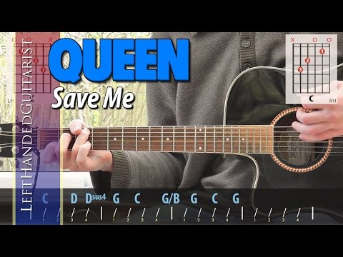 Queen - Save Me | acoustic guitar lesson