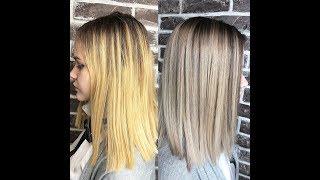 #1 Окрашивание волос ❤️Лада Ким❤️ Шатуш, исправление предыдущего окрашивания.