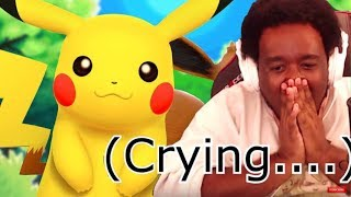 PIKACHU FAN REACTS (CRIES) TO NEW POKEMON: LET'S GO PIKACHU TRAILER LIVE!  REACTION VIDEO!
