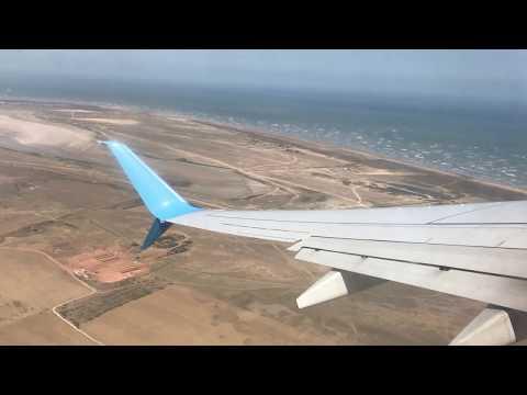 взлет из аэропорта Уйташ г. Каспийск а/к Победа. Боинг 737-800