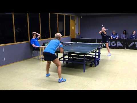 141112 Dame Elitedivision, Karoline Petersen - Jette Vieg