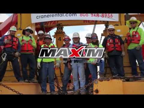 Maxim Cranes Barge Load Out