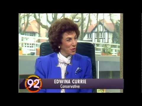 BBC General Election results 1992 Edwina Curry interview (if only we'd known then...)