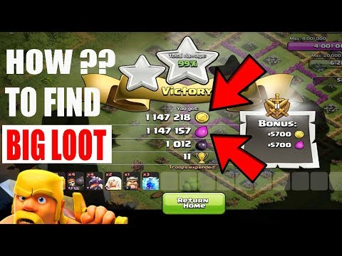 (HINDI) HOW TO FIND BIG LOOT EVERY TIME IN CLASH OF CLANS