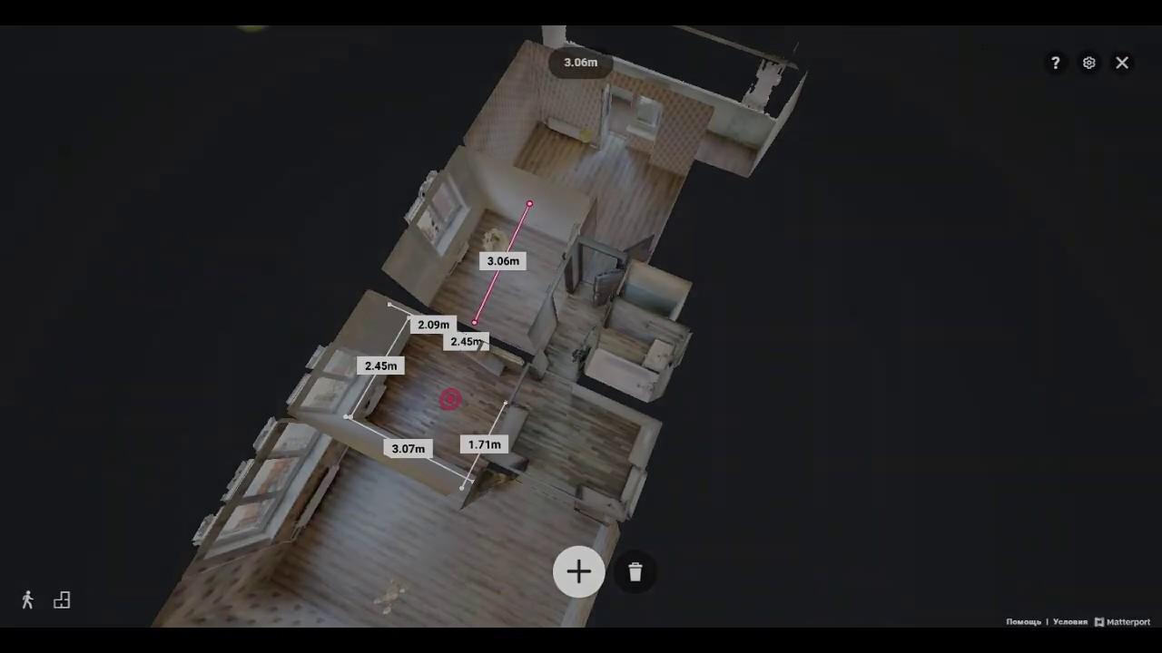 Измерить длину стены? В Matterport 3д туре это легко!