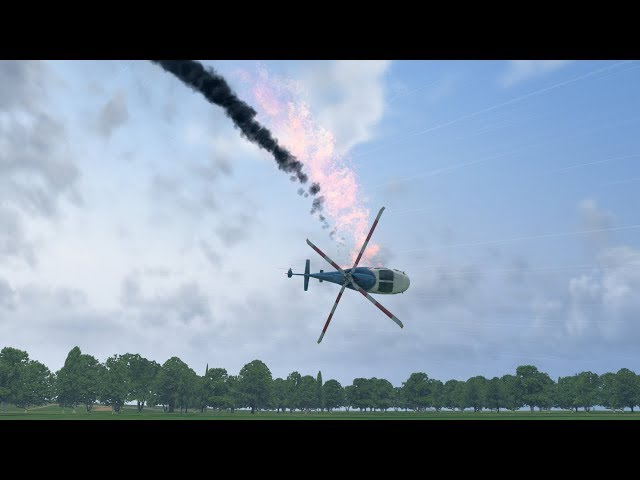How Kobe Bryant helicopter fell out of the sky in California, animated video Crash [XP11]
