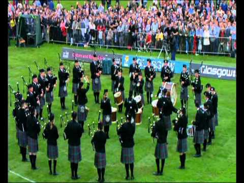Spirit of Scotland pipe band at World pipe band championship 2008