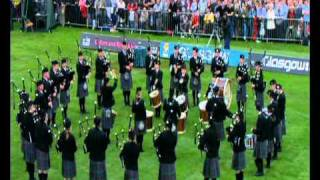 Spirit of Scotland pipe band at World pipe band championship 2008