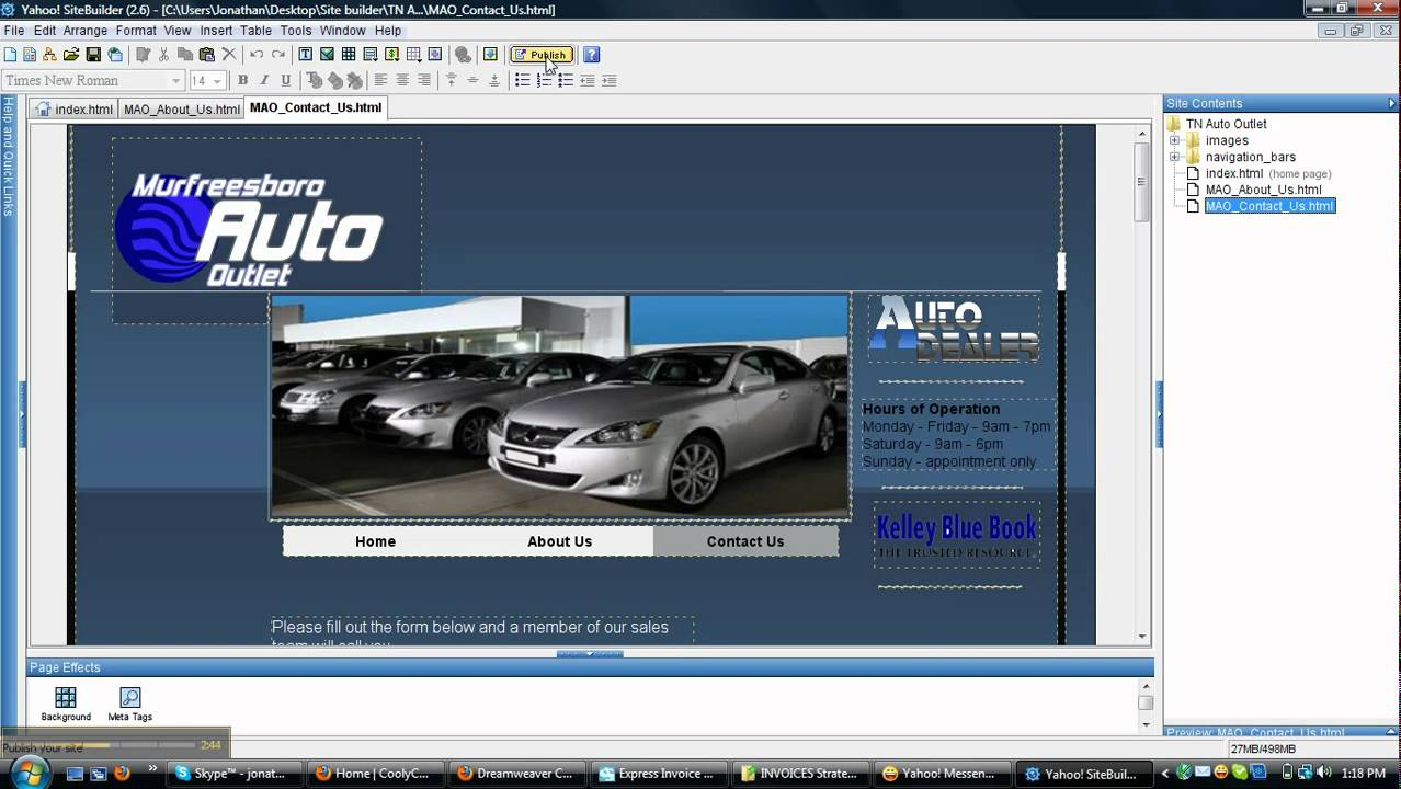 Yahoo Site Builder Getting Started Video 1 of ? - YouTube