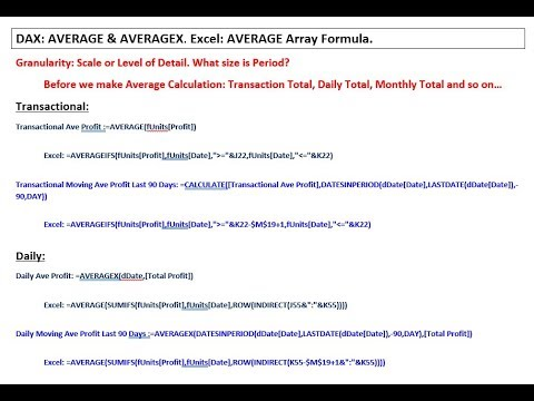 Excel Magic Trick 1424 Average, Moving Average at Different