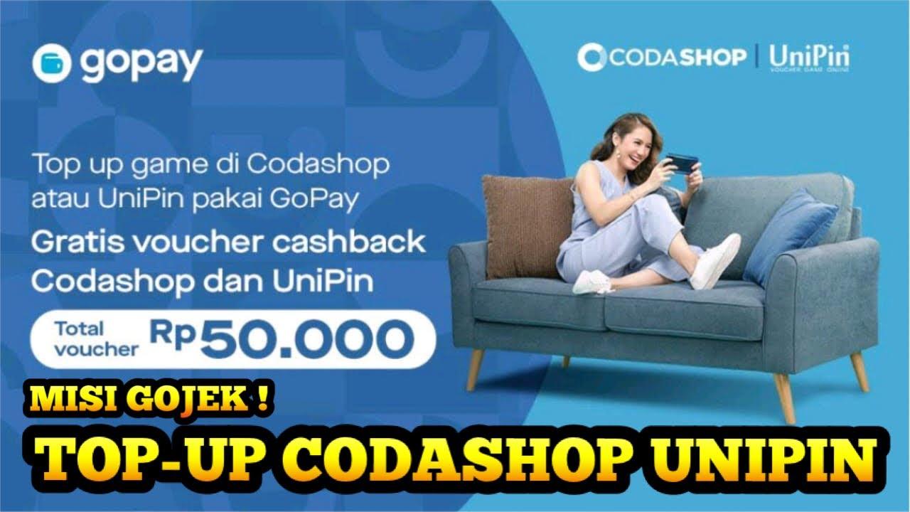 Promo Cashback Gopay 50 Ribu Top Up Di Codashop Dan Unipin Oktober 2020 Youtube