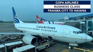 COPA AIRLINES - BUSINESS CLASS   PANAMA CITY TO HAVANA   B737   COPA CLUB LOUNGE   TRIP REPORT