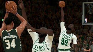 NBA 2K20 Tacko Fall My Career - Palm Blocked Giannis!