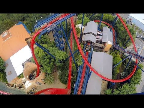SheiKra front seat on-ride HD POV @60fps Busch Gardens Tampa