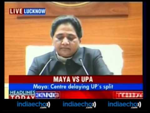 CM Mayawati Addresses Media On Division Of Uttar Pradesh-Video - Indiaecho.com