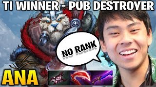 Ana Pub Destroyer with Tusk - TI Winner is Having Fun