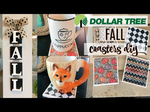 DOLLAR TREE FALL DIY | FANTASTIC WAYS TO USE DOLLAR TREE COASTERS!
