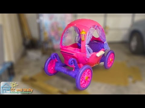 Disney Princess Carriage Review And Build - One Fast Ride-On Toy | Comparison Fun Outdoor Play Cute