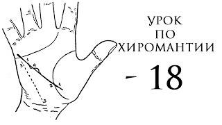 18. Урок по хиромантии. Линия Марса, линия Меркурия