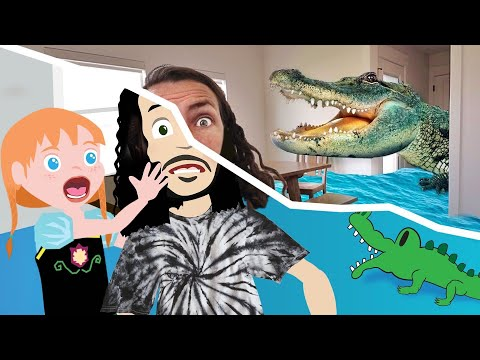 Magic ADLEY CARTOON ✨ Secret Room \u0026 Alligators inside our House! DONT GET CAUGHT the floor is Lava! indir