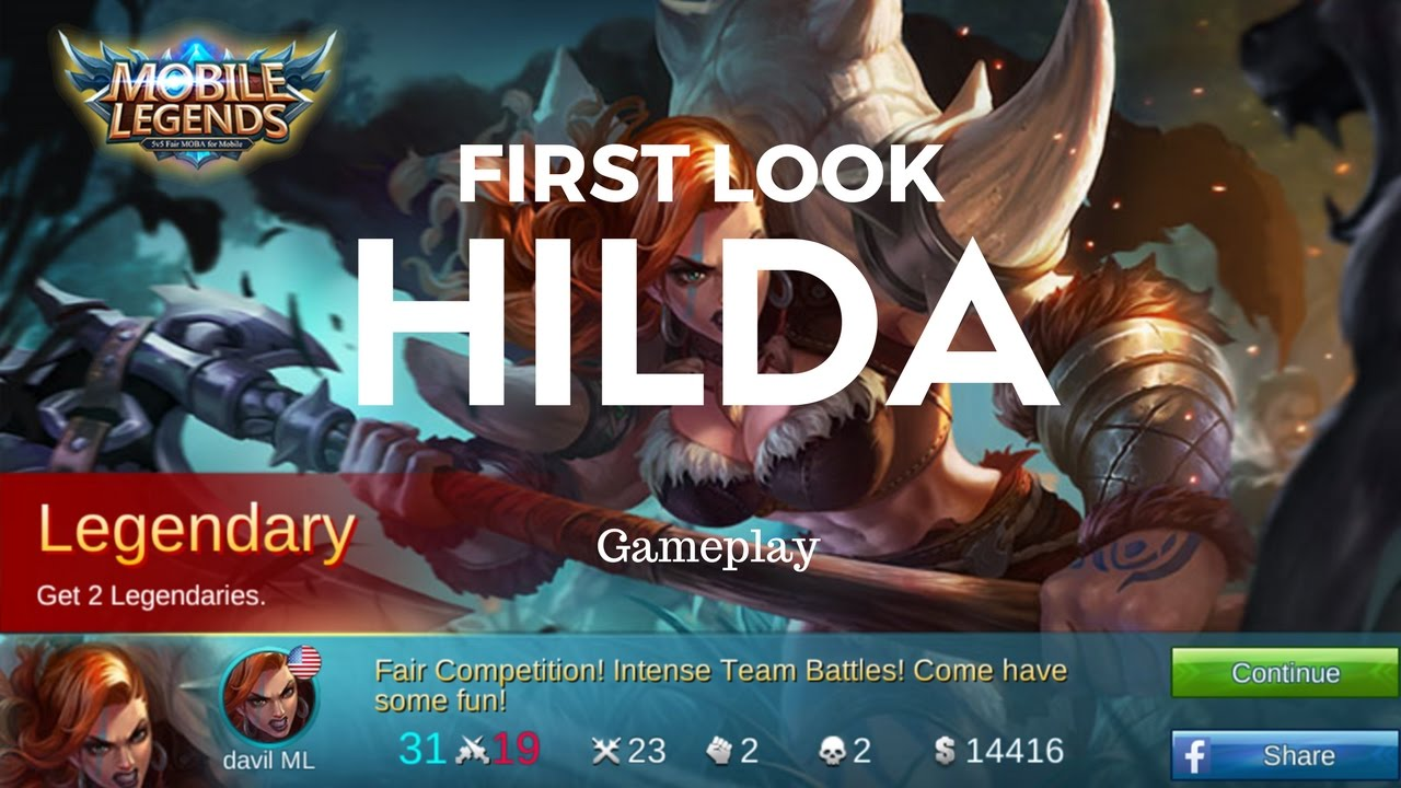Hilda First Look Dunking Power! Mobile Legends Hilda Gameplay with Live  Commentary and Reactions!