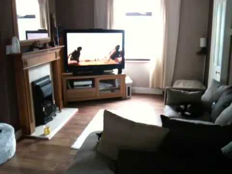 Living Room Setup With Bay Window