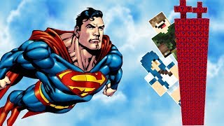ILHA LUCKY BLOCK SUPER MAN l LUCKY BLOCK SUPER HERÓIS MINECRAFT